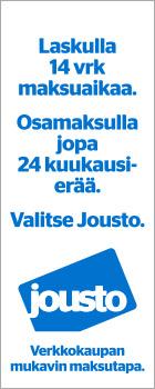 Jousto maksutapa - Laskulla 14 vuorokautta maksuaikaa - Osamaksulla jopa 24 kuukausierää - Valitse Jousto